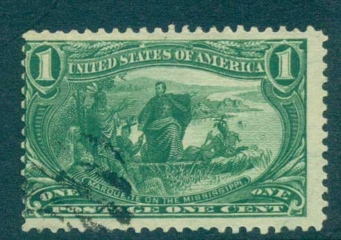 USA 1898 Sc#285 1c Trans-Mississippi Exposition FU lot67203