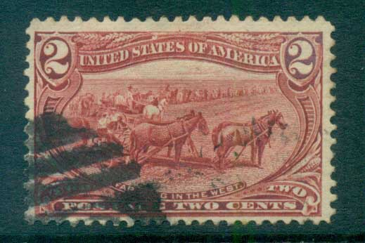 USA 1898 Sc#286 2c Trans-Mississippi Exposition FU lot67212
