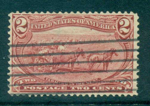 USA 1898 Sc#286 2c Trans-Mississippi Exposition FU lot67213