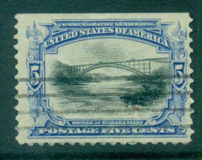 USA 1901 Sc#297 5c Pan-American Exposition FU lot67230