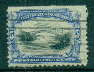 USA 1901 Sc#297 5c Pan-American Exposition FU lot67232