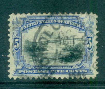 USA 1901 Sc#297 5c Pan-American Exposition FU lot67233