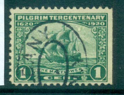 USA 1920 Sc#548 Pilgrim Tercentenary 1c FU lot67319