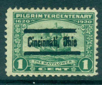 USA 1920 Sc#548 Pilgrim Tercentenary 1c Precancel FU lot67321