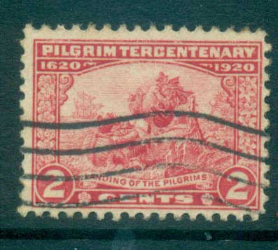 USA 1920 Sc#549 Pilgrim Tercentenary 2c FU lot67323