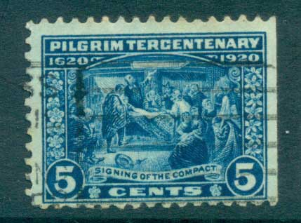USA 1920 Sc#550 Pilgrim Tercentenary 5c FU lot67325