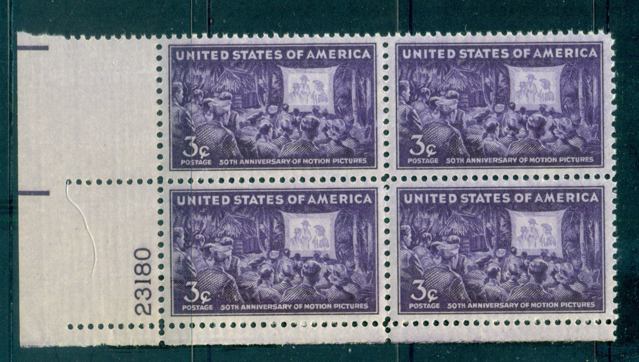 USA 1944 Sc#926 Motion Picture Anniv. PB#23180 MUH lot67610