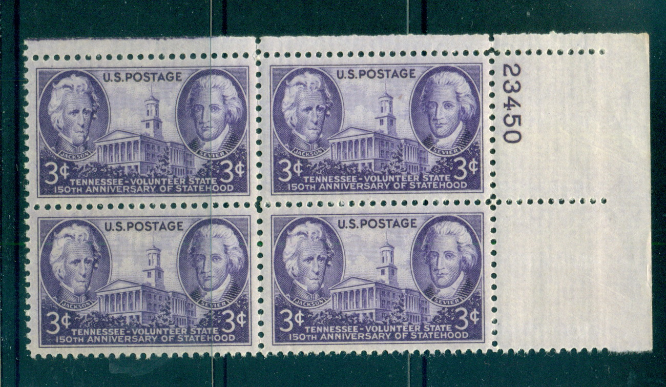 USA 1946 Sc#941 Tenessee Statehood PB#23450 MUH lot67623