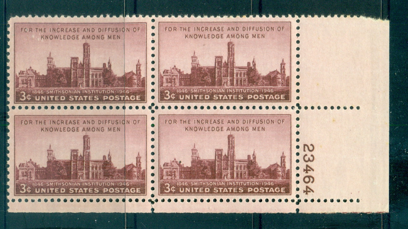 USA 1946 Sc#943 Smithsonian Institution PB#23464 MUH lot67625