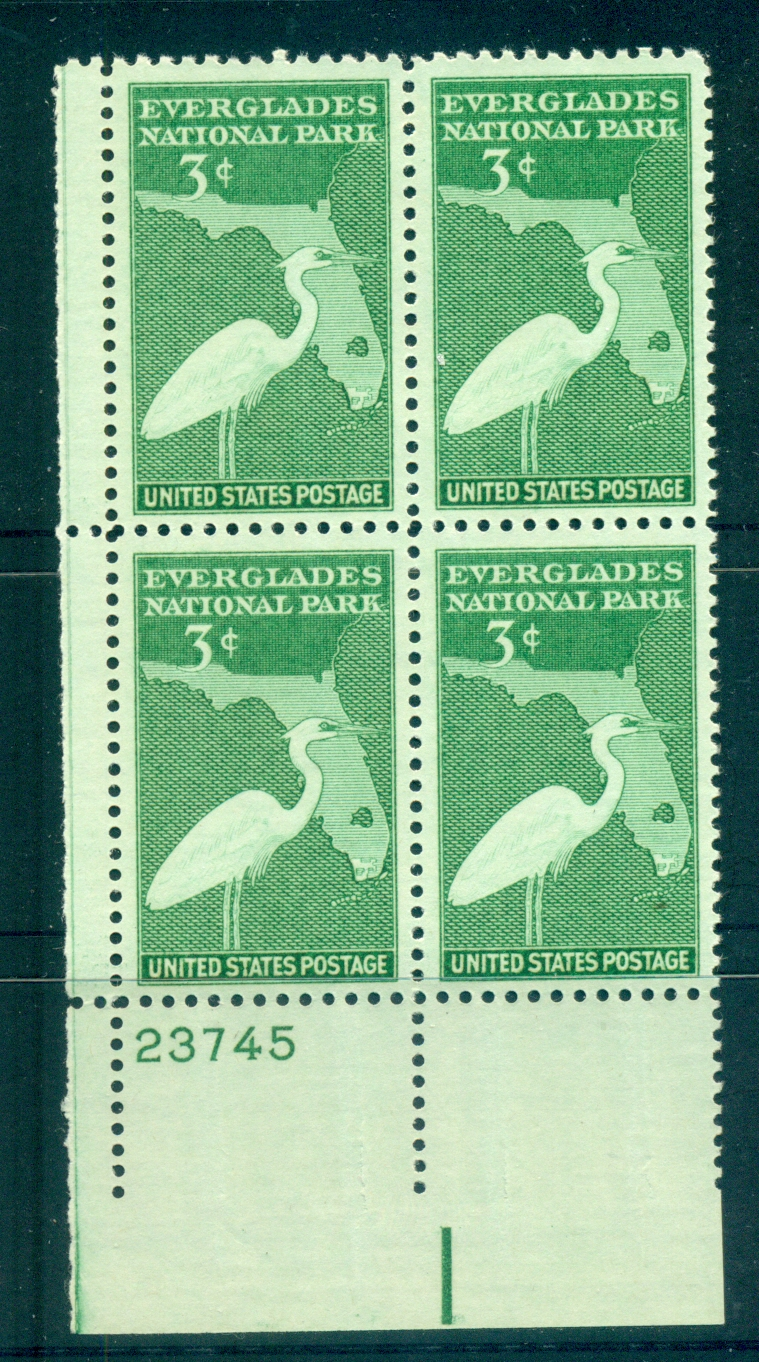USA 1947 Sc#952 Everglades National Park PB#23745 MUH lot67636