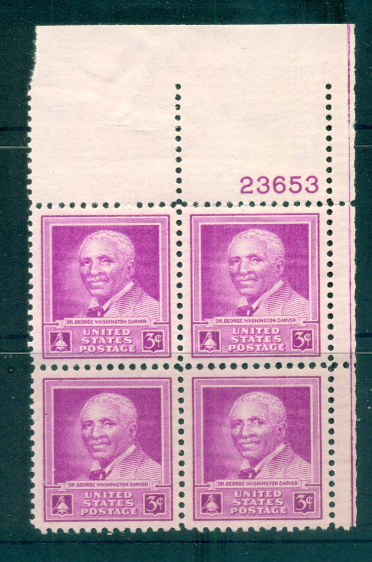USA 1948 Sc#953 George Washington Carver PB#23653 MUH lot67637