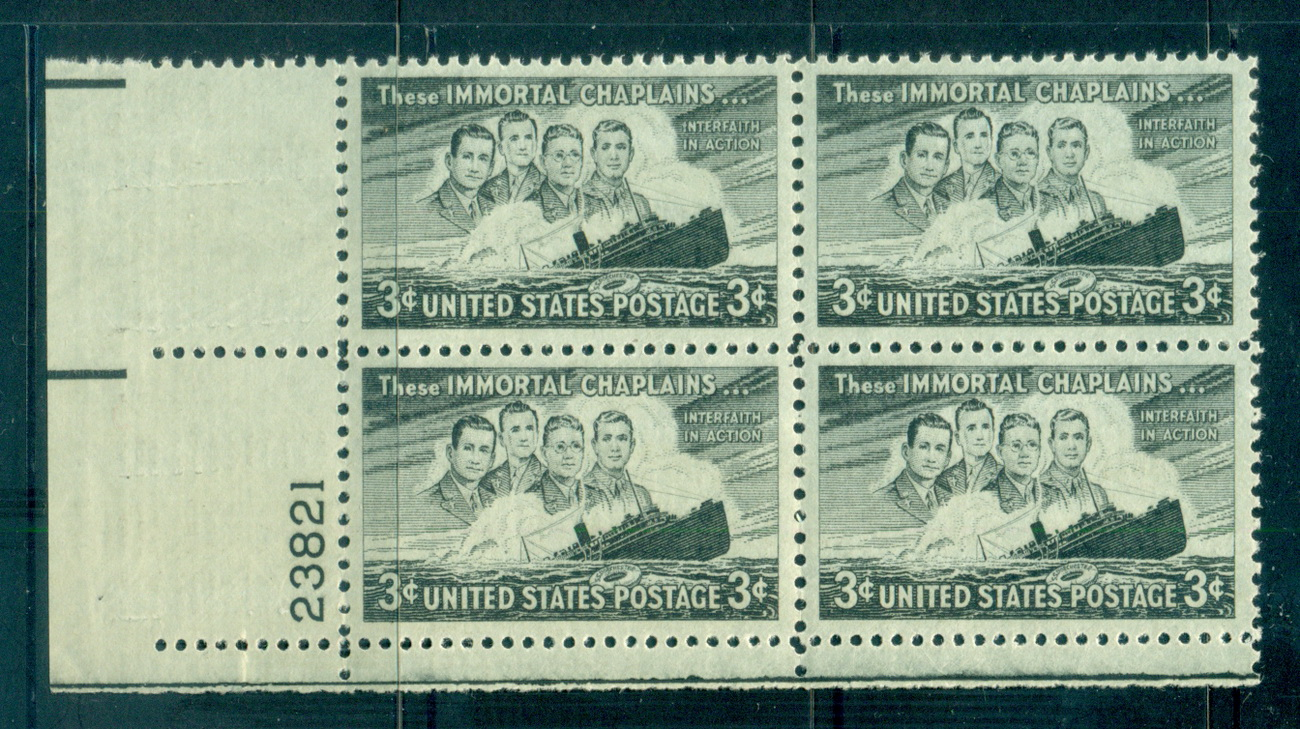 USA 1948 Sc#956 Four Chaplains PB#23821 MUH lot67641