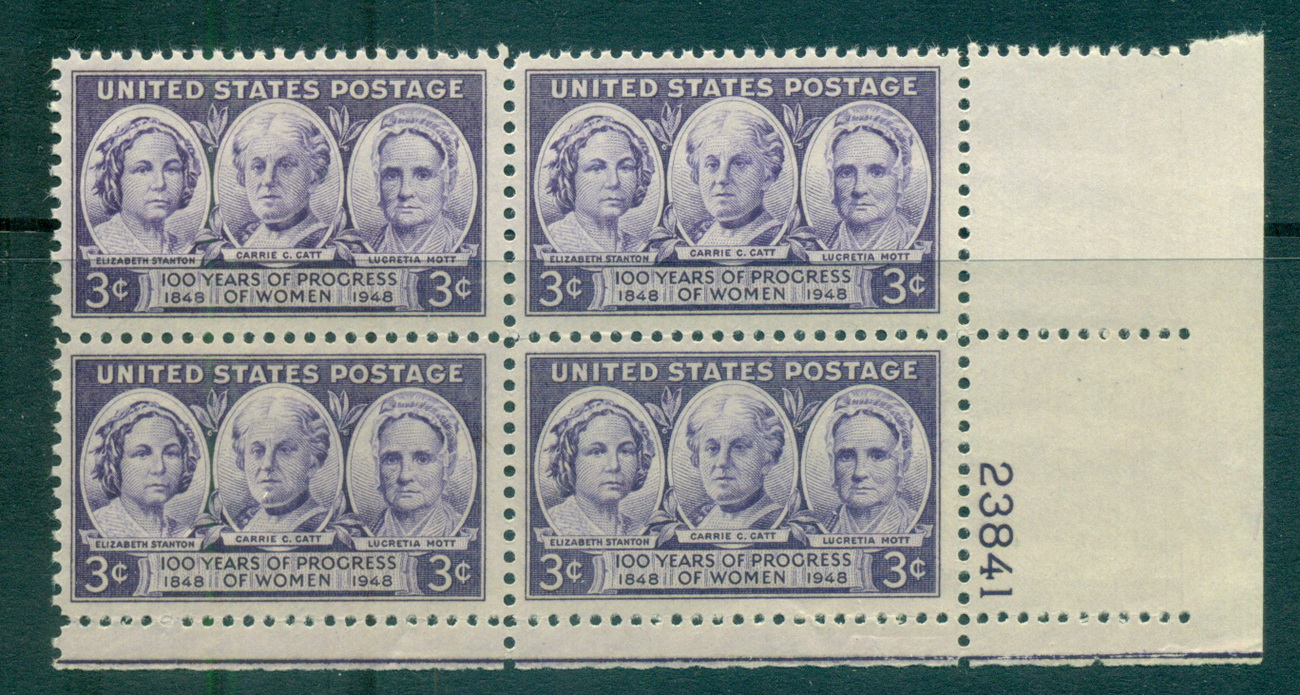 USA 1948 Sc#959 Progress of Women PB#23841 MUH lot67646