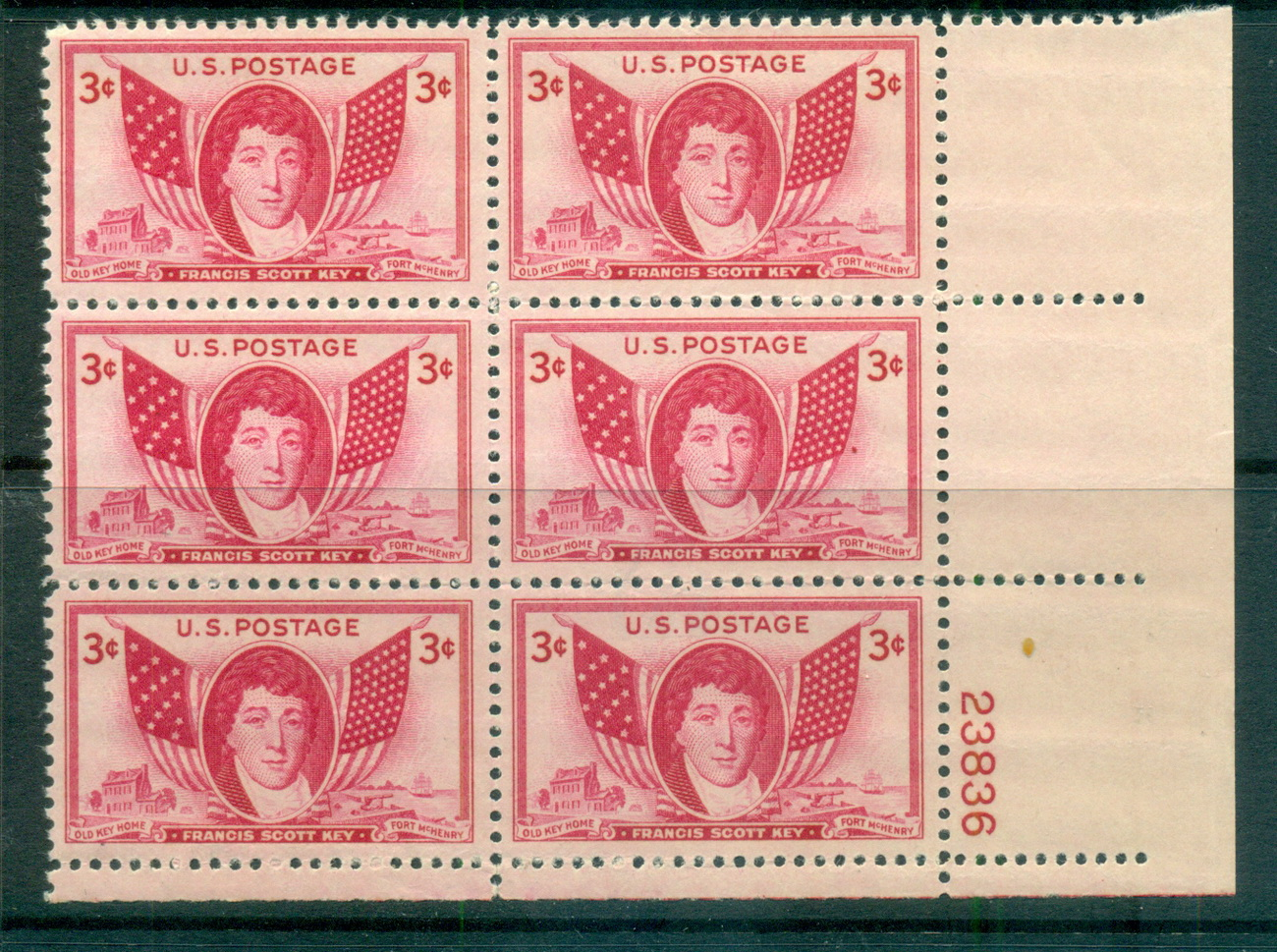 USA 1948 Sc#962 Francis Scott Key PB6#23836 MUH lot67651