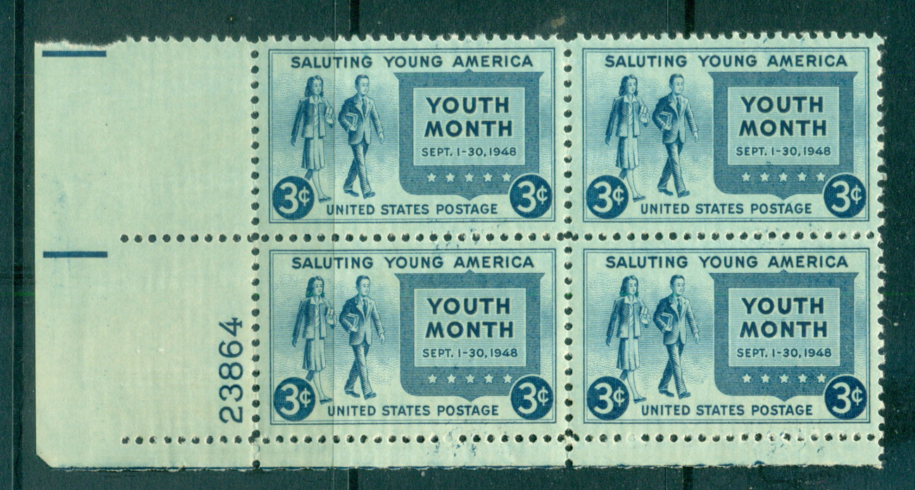 USA 1948 Sc#963 Salute to Youth PB6#23864 MUH lot67653