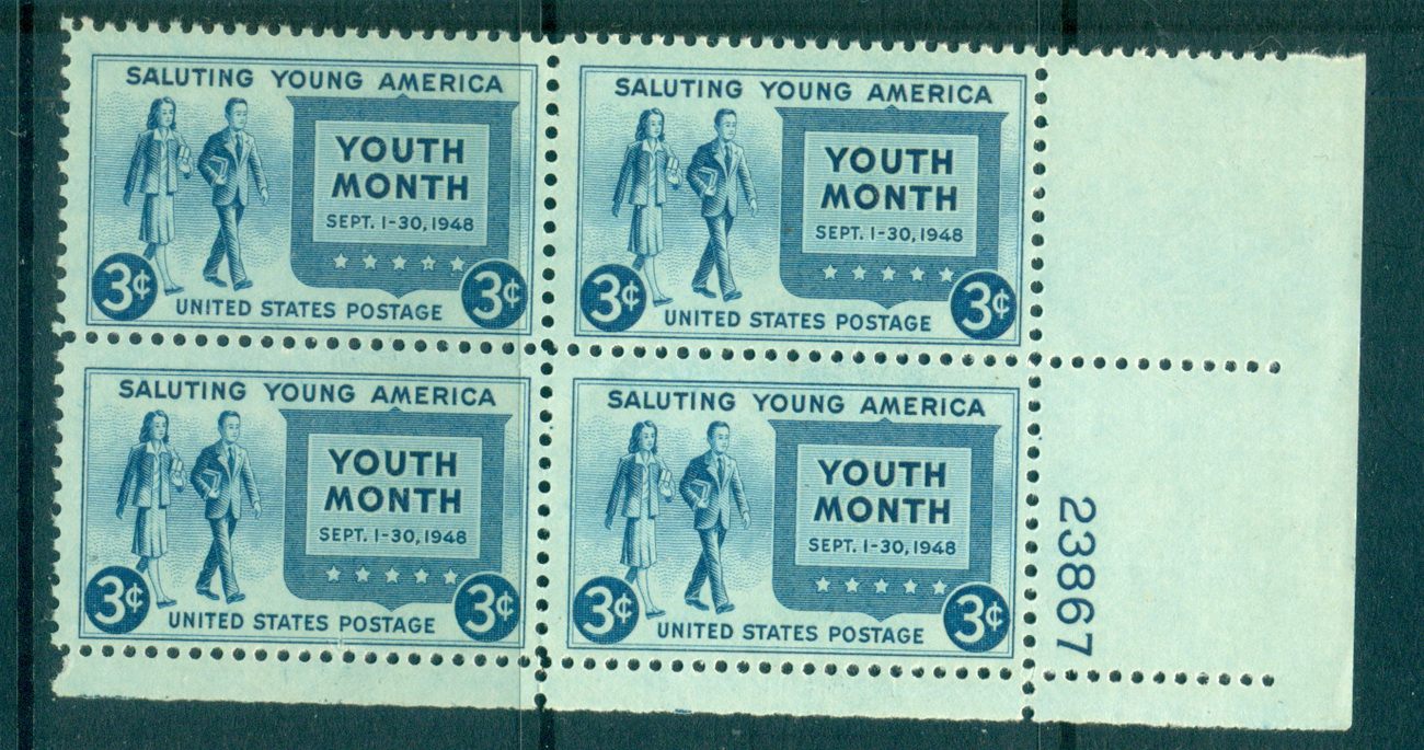 USA 1948 Sc#963 Salute to Youth PB6#23867 MUH lot67654