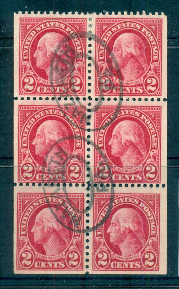 USA 1922-25 Sc#554c 2c Washington Booklet pane P11 (Flat Plate) FU lot67800