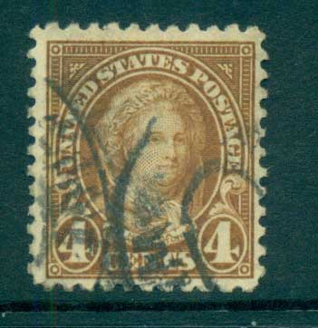 USA 1922-25 Sc#556 4c Martha Washington P11 (Flat Plate) FU lot67804