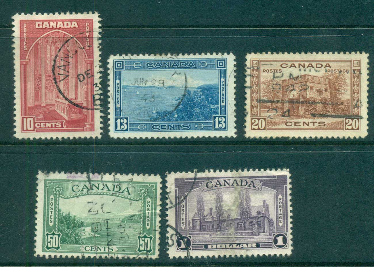 Canada 1938 KGVI Pictorials FU lot68196