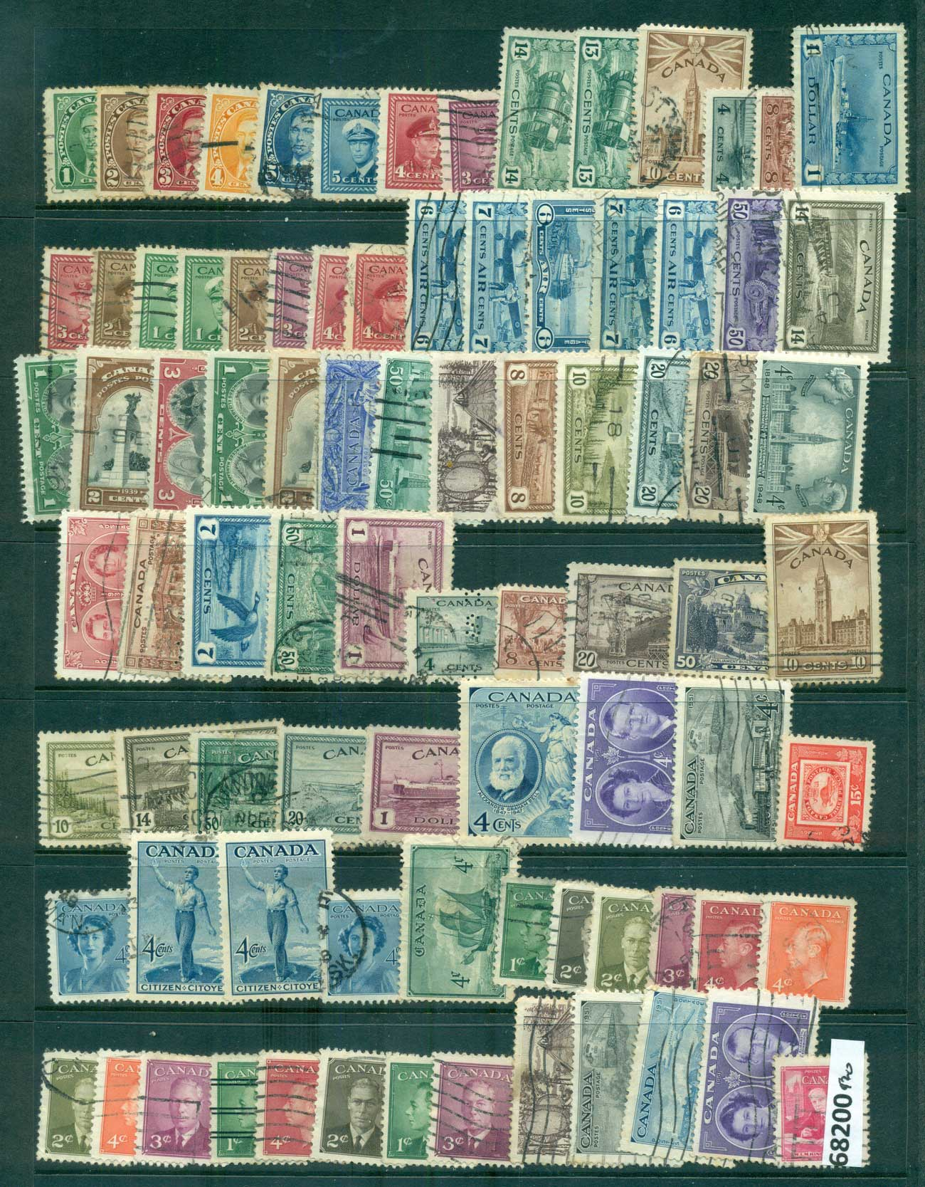 Canada 1937on KGVI Assorted Oddments FU lot68200