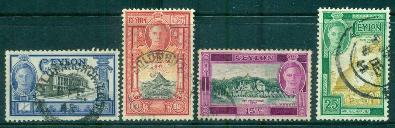 Ceylon 1947 New Constitution FU lot68210