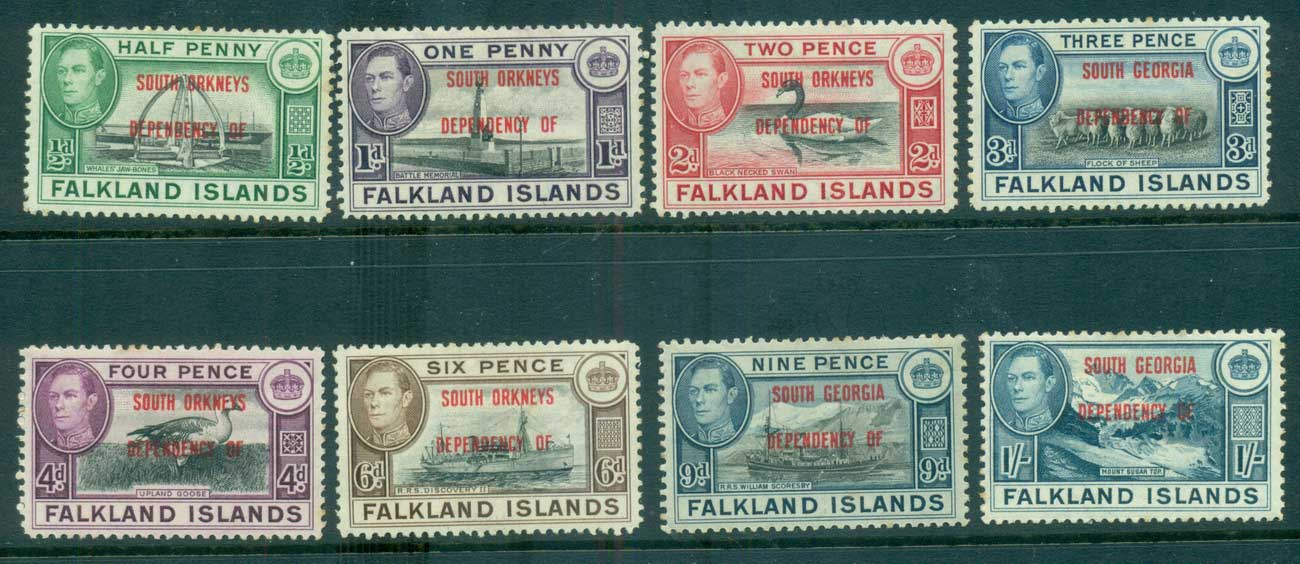 Falkland Is Deps 1944 South Orkneys Opts (tones)MLH lot68230