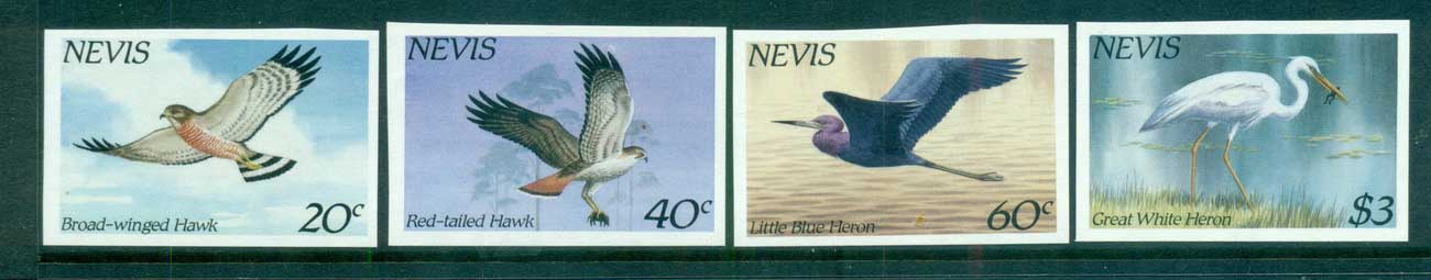 Nevis 1985 Birds IMPERF MUH lot68597
