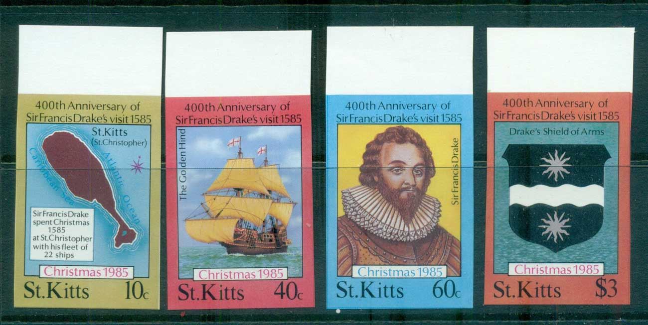 St Kitts 1985 Xmas IMPERF MUH lot68621