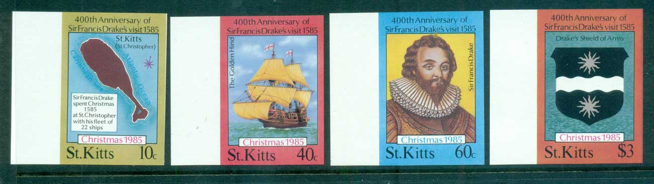 St Kitts 1985 Xmas IMPERF MUH lot68625