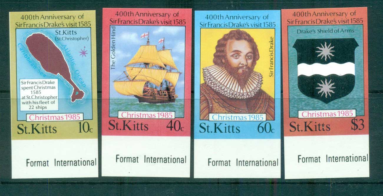 St Kitts 1985 Sir Francis Drake IMPERF MUH lot68717