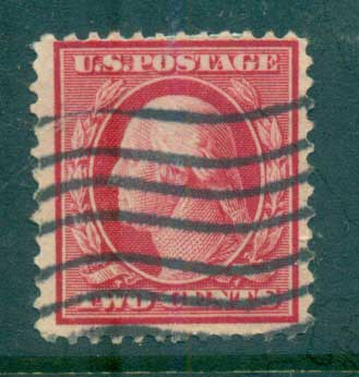 USA 1910-11 Sc#375 2c carmine Washington Perf 12 Wmk S/L FU lot68913