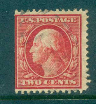 USA 1910-11 Sc#375 2c carmine Washington Perf 12 Wmk S/L FU lot68914