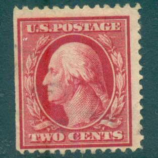 USA 1910-11 Sc#375 2c carmine Washington Perf 12 Wmk S/L FU lot68917
