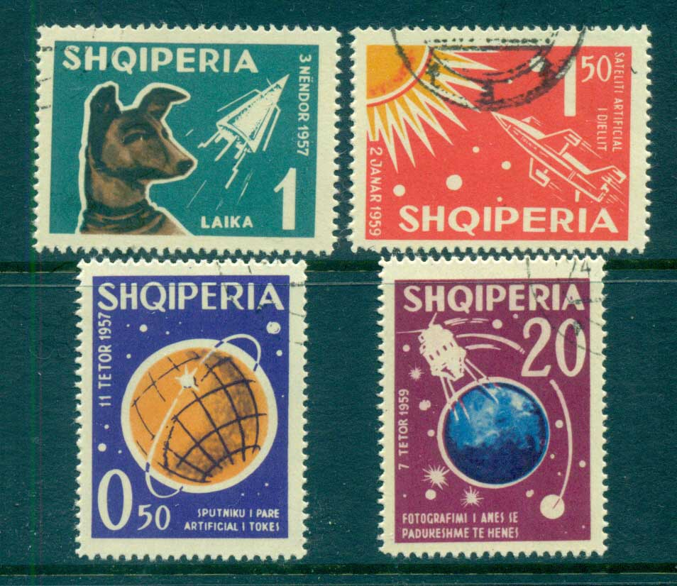 Albania 1962 Russian Space Exploration, Dog laika CTO lot69467