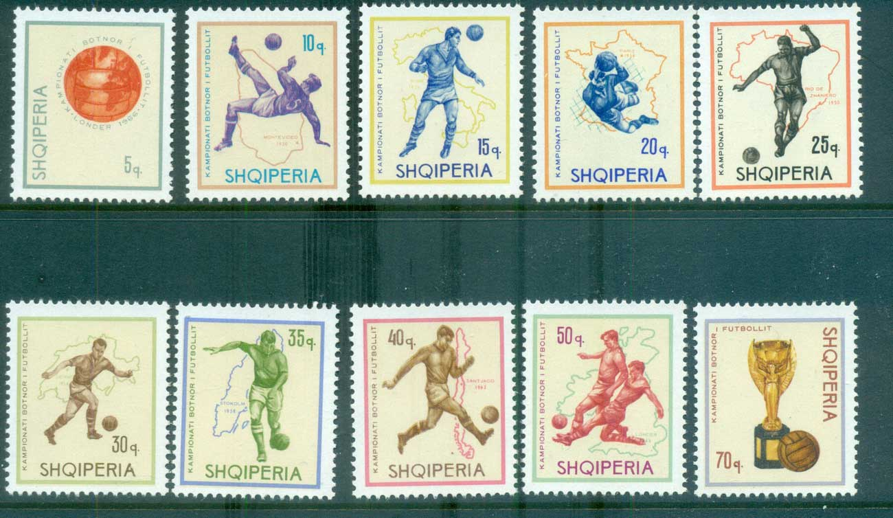 Albania 1966 World Cup Soccer MUH lot69554