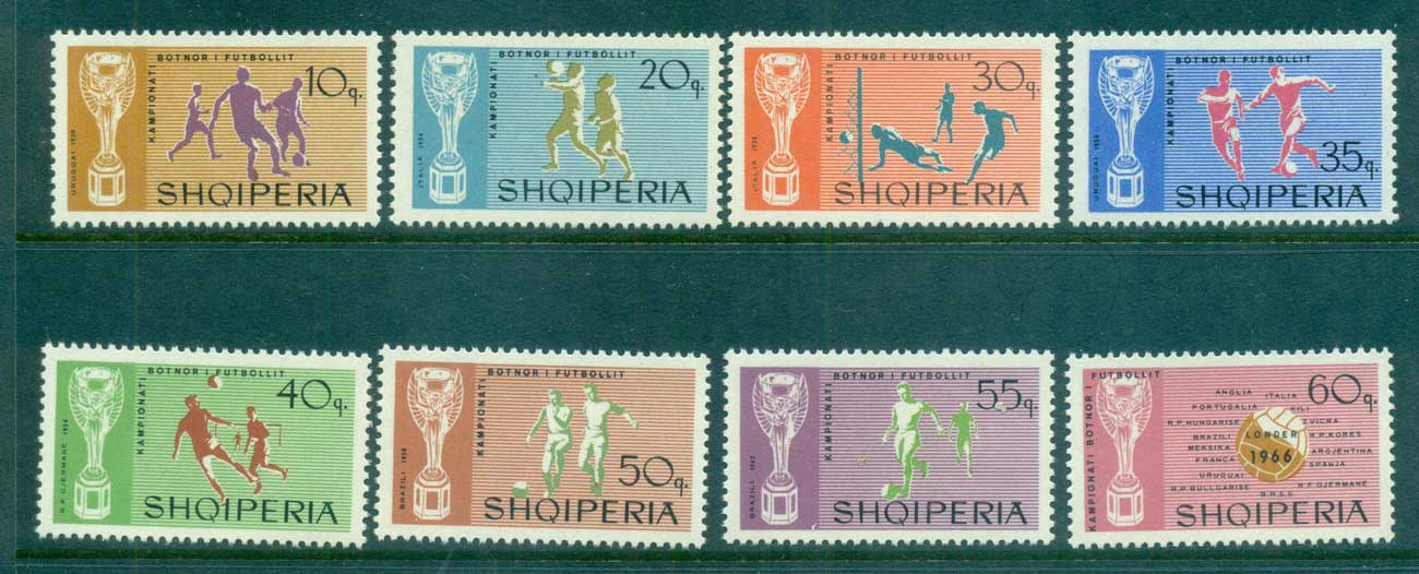 Albania 1966 World Cup Soccer MUH lot69565