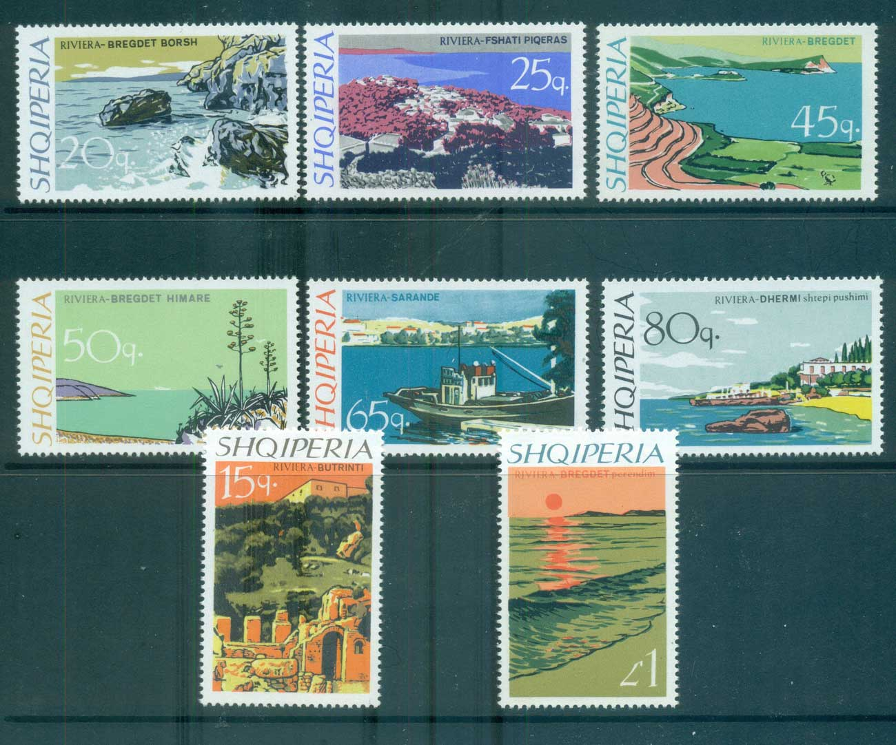Albania 1967 Views MUH lot69600