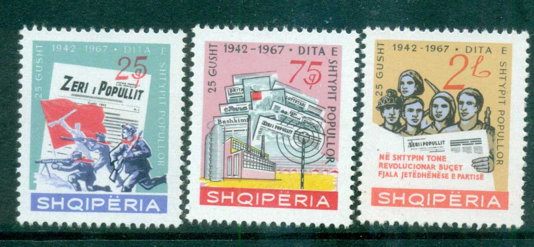 Albania 1967 Day of the Press MUH lot69606