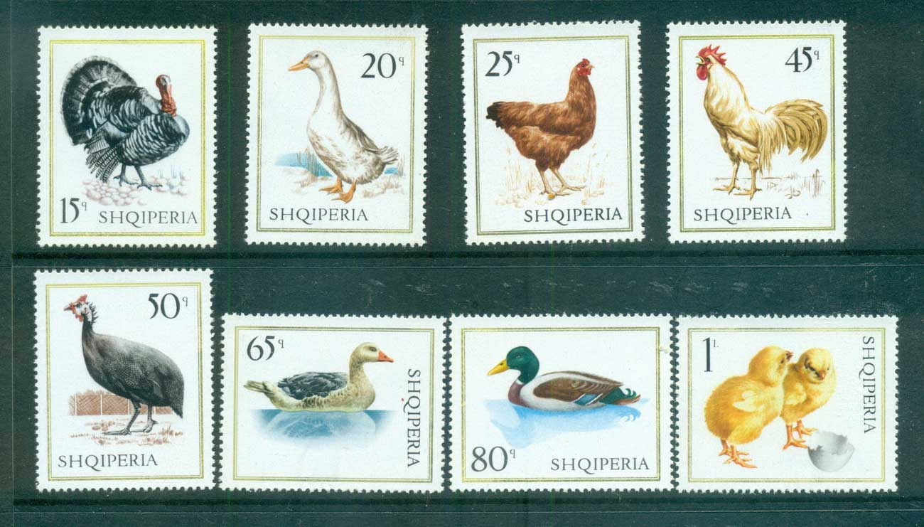 Albania 1967 Birds, Domestic Fowl MUH lot69617