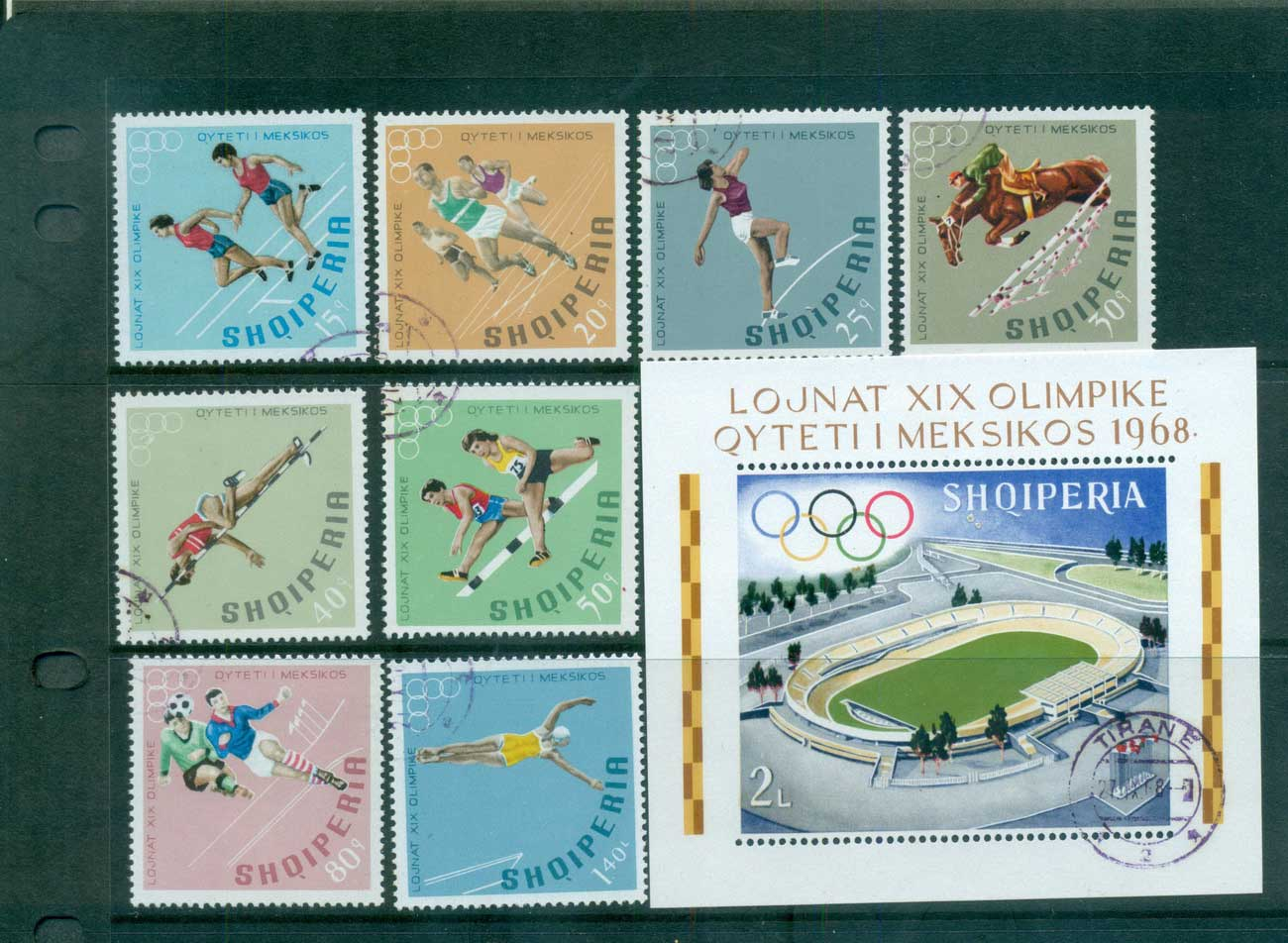 Albania 1968 Mexico City Olympics + MS CTO lot69652