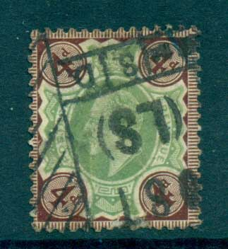 GB 1902-11 KEVII 4d greybrn & green FU lot70198