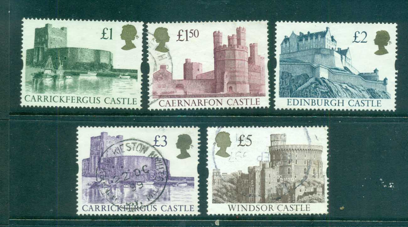 GB 1992-95 Castles, Syncopated FU lot70251