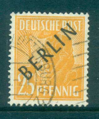 Germany Berlin 1948 Black BERLIN Opts 25pf FU lot70343