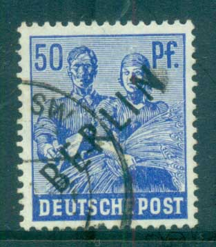 Germany Berlin 1948 Black BERLIN Opts 50pf FU lot70346