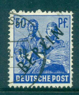 Germany Berlin 1948 Black BERLIN Opts 50pf FU lot70347