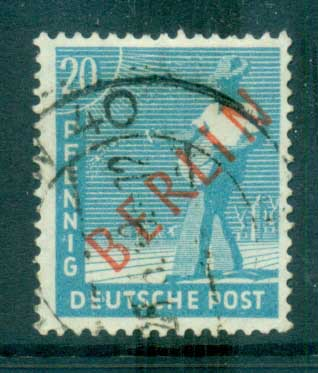 Germany Berlin 1948-49 Red BERLIN Opts 20pf FU lot70356