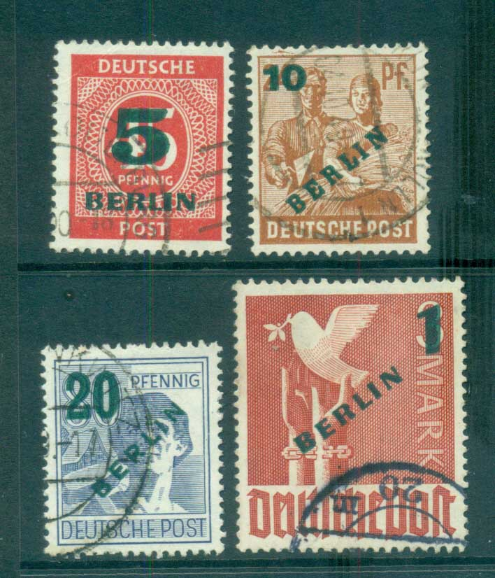 Germany Berlin 1949 Green BERLIN Opts FU lot70372