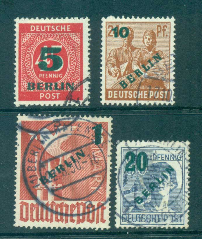 Germany Berlin 1949 Green BERLIN Opts FU lot70373
