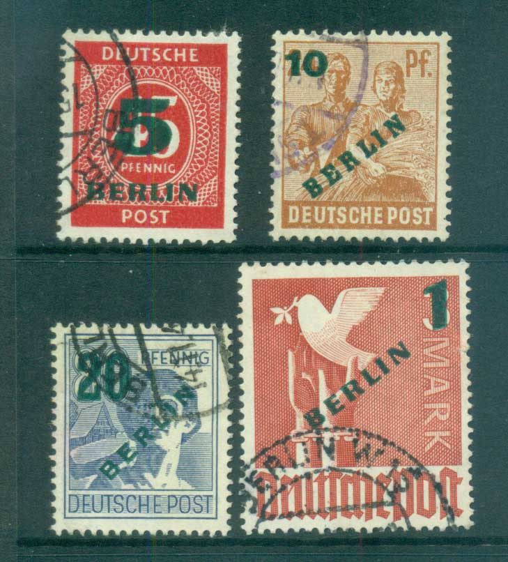 Germany Berlin 1949 Green BERLIN Opts FU lot70382