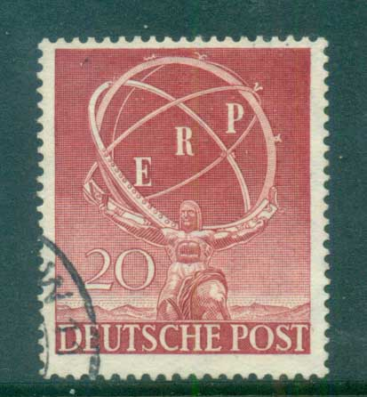 Germany Berlin 1950 European Recovery Plan FU lot70405